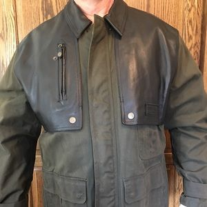 Harley Davidson Oiled Canvas & Leather Jacket - XL